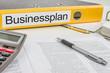 Aktenordner mit der Beschriftung Businessplan