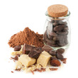 Сocoa oil (butter), cocoa powder, cocoa beans and chocolate