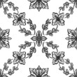 Classical black flower graphic for unlimited repeat to larger pa
