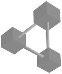 Optical illusion paradox symbol. Vector illustration.