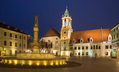 Bratislava - Main square in dusk