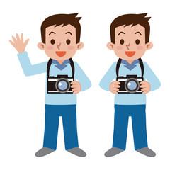 カメラを持った男性