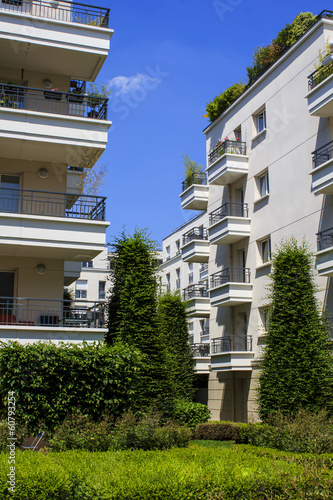 Modern residential buildings, Paris