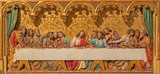 Bratislava - Last supper of Christ. Carved relief from cathedral
