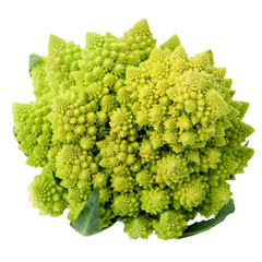 One whole Romanesco broccoli (Brassica oleracea)