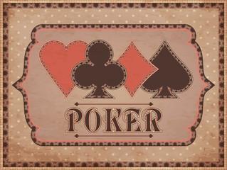 Vintage casino background, vector illustration