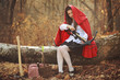 Little red riding hood with a crossbow
