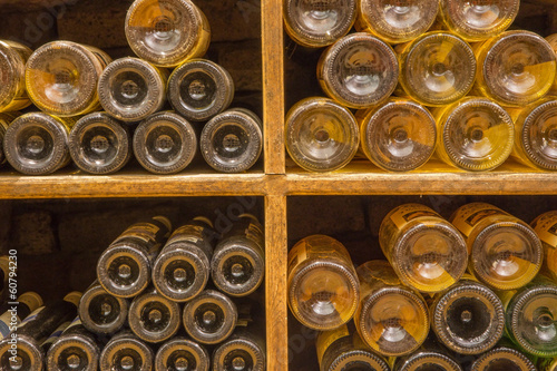 Detail of bottles from Interior of wine callar