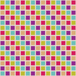 Seamless pattern with colored squares.
