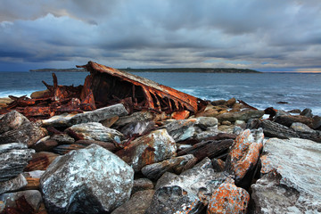 Storm over shipwreck at Sydney