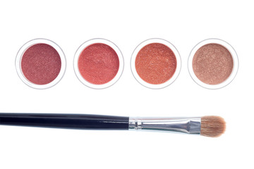 Brush and makeup isolated