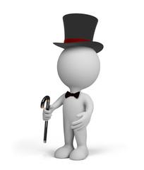 3d person gentleman