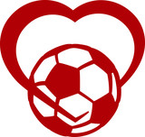 Soccer or Football Heart