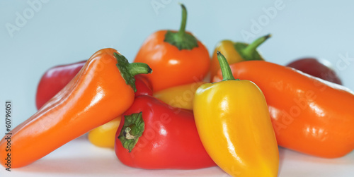 A Small Pile of Sweet Mini Peppers