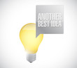 another best idea light bulb message illustration