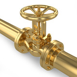 Gold valve of pipeline