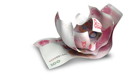 Scrunched Up Chinese Yuan Notes