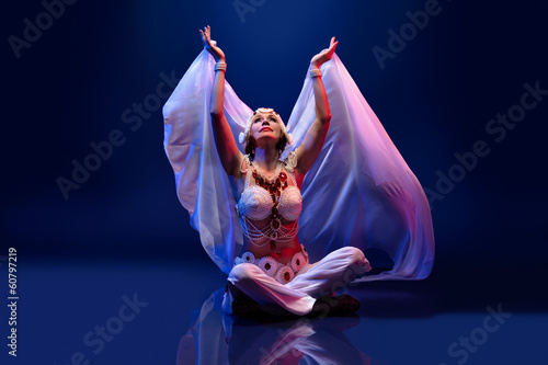 Beautiful oriental dancer