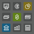 Finance web icons set 1, flat buttons