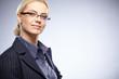 Portrait of beautiful business woman wearing glasses