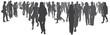 Menschen in der Stadt - Silhouette vektor - 60798204
