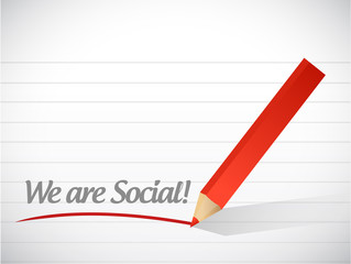 we are social message illustration design