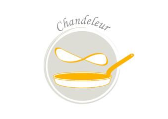 Logo chandeleur - poêle à crêpes