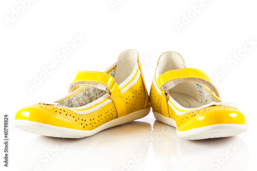 girl shoes isolated on white.