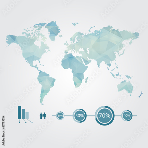 modern concept of world map with infographic