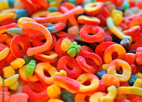 (assorted jelly) candy, confectionery