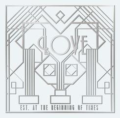 Art Deco Love card