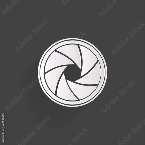 Photo camera diaphragm icon