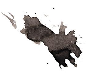 black blot on a white background