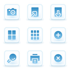 Image viewer web icons, winter buttons