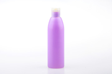 pink plastic bottle for cosmetic