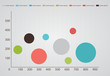 Infographic table with colours bubbles