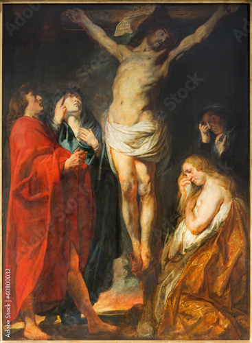 Antwerp - The Crucifixion paint by Jacob Jordaens - 60800032