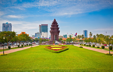 Independence Monument in Phnom Penh, Cambodia.