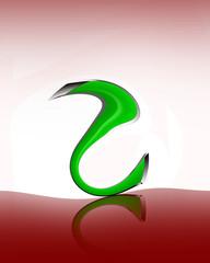 numero 2 stilizzato riflesso