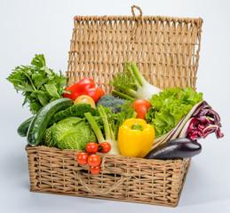 Verdura nel cesto
