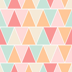 Seamless triangle pastel texture pattern