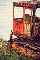 discarded tractor
