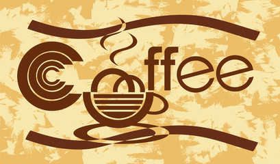 banner with coffee