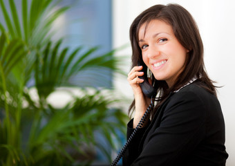 Businesswoman at the phone