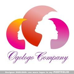 logo, face, elegance, female, woman
