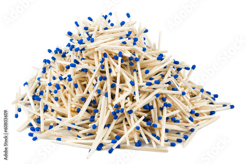 matches lying a hill on a white background