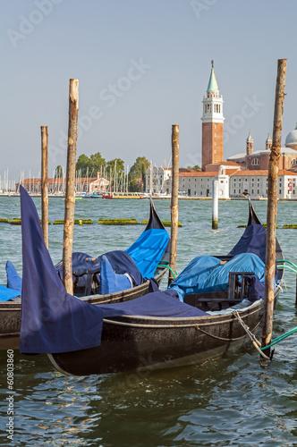 Deurstickers Gondolas Gondola in Venice.
