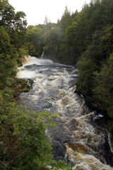 世界遺産地域、滝から流れるクライド川