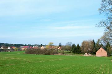 Landschaft im Osten Brandenburgs