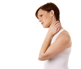 woman having a neck pain